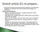 stretch article q s to prepare