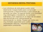 deficiencia mental profunda