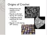 origins of crochet