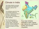 climate in india