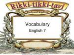 vocabulary english 7