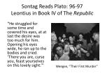 sontag reads plato 96 97 leontius in book iv of the republic