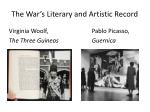 the war s literary and artistic record