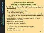 administrative record roles responsibilities1