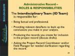 administrative record roles responsibilities2