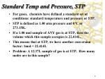 standard temp and pressure stp