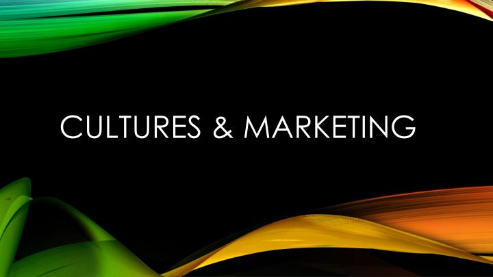 cultures marketing n.