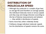 distribution of molecular speed