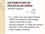 distribution of molecular speed1