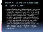 brown v board of education of topeka 1954