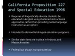 california proposition 227 and special education 1998