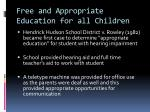 free and appropriate education for all children