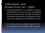 individuals with disabilities act idea