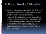 mills v board of education