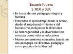 escuela nueva s xix y xx