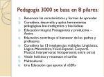 pedagog a 3000 se basa en 8 pilares