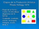 etapas de la producci n art stica rhoda kellogg 19701