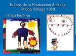 etapas de la producci n art stica rhoda kellogg 19703