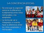 la conciencia social