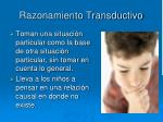 razonamiento transductivo