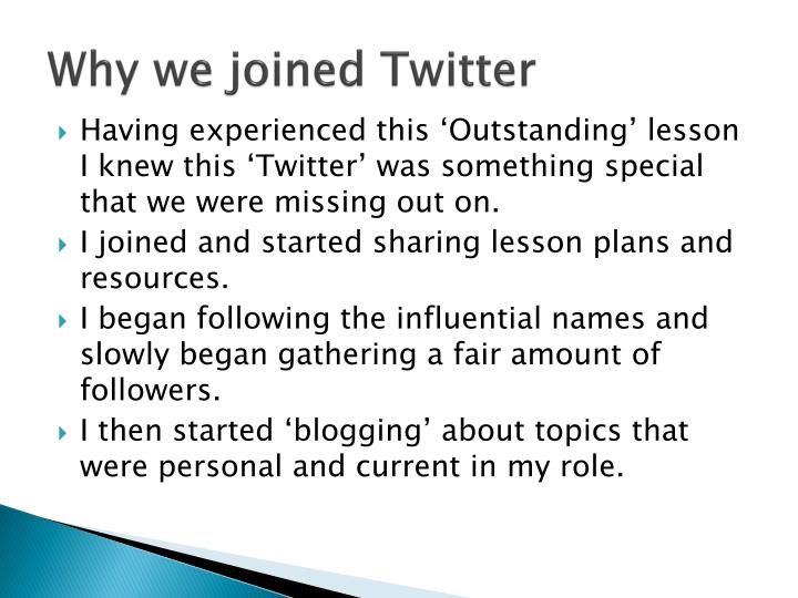 Why we joined Twitter