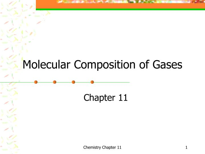molecular composition of gases n.