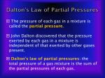 dalton s law of partial pressures