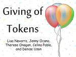 giving of tokens