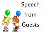 speech from guests