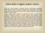 data data ringkas pakar sastra