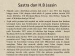 sastra dan h b jassin