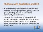 children with disabilities and efa