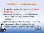 definitions inclusive education