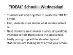 ideal school wednesday