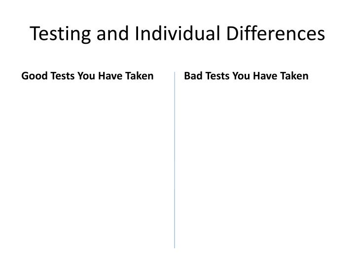 testing and individual differences n.