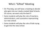 who s gifted meeting