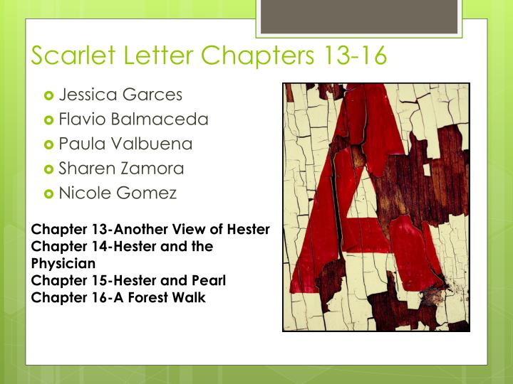 scarlet letter chapters 13 16 n.