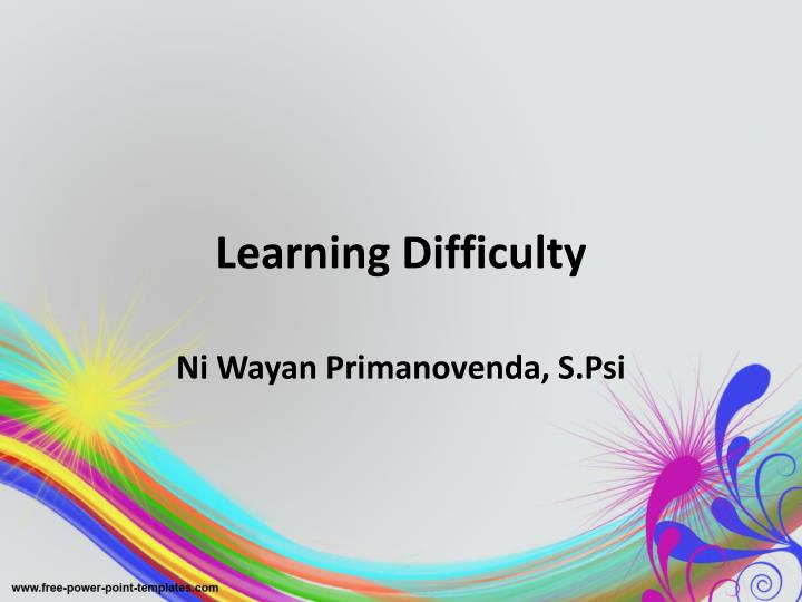 learning difficulty n.