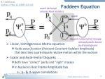 faddeev equation