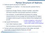 parton structure of hadrons1