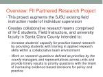overview fii partnered research project