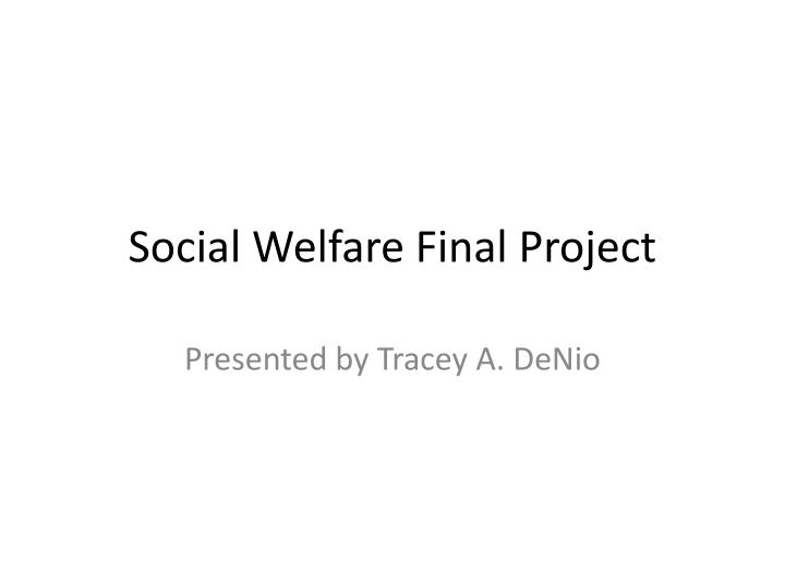 social welfare final project n.