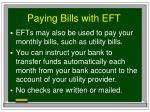paying bills with eft