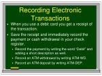 recording electronic transactions