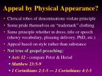 appeal by physical appearance