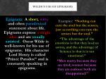wilde s use of epigrams
