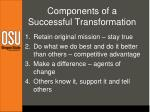 components of a successful transformation