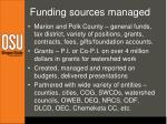 funding sources managed