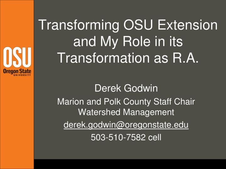 transforming osu extension and my role in its transformation as r a n.