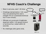 nfhs coach s c hallenge